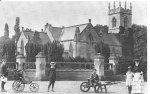 Children outside St. Michael's Parish Church, Rossington. 1905