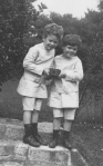 Douglas Bader as a child (right)