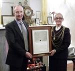 Richard Walter Montagu Douglas Scott - Earl of Doncaster with Cllr Eva Hughes 2011