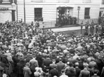 Gathering outside Mansion house 1935