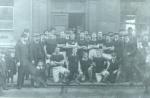 Footballers outside Snooker hall