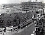 St. Sepulchre Gate and Arndale Centre under construction.