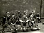 workers at peglers 1950