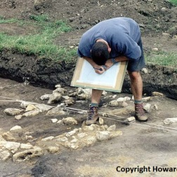 Dr Malcolm Lillie charting stones