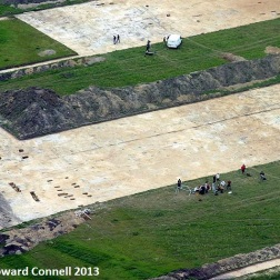 Sutton Common aerial of trenches 2003